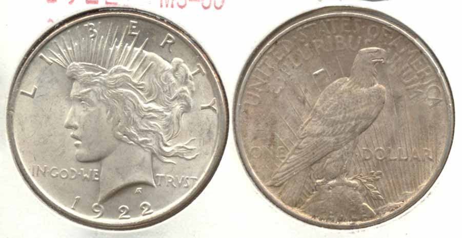 1922 Peace Silver Dollar MS-60 v