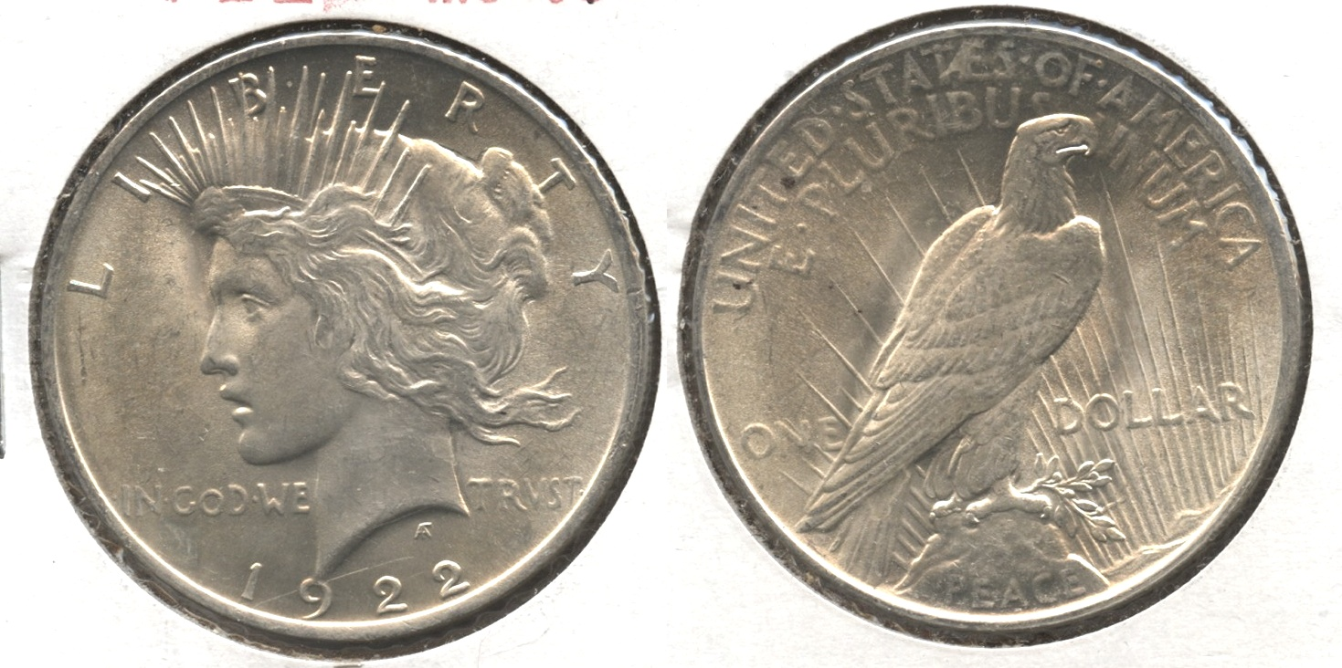 1922 Peace Silver Dollar MS-61