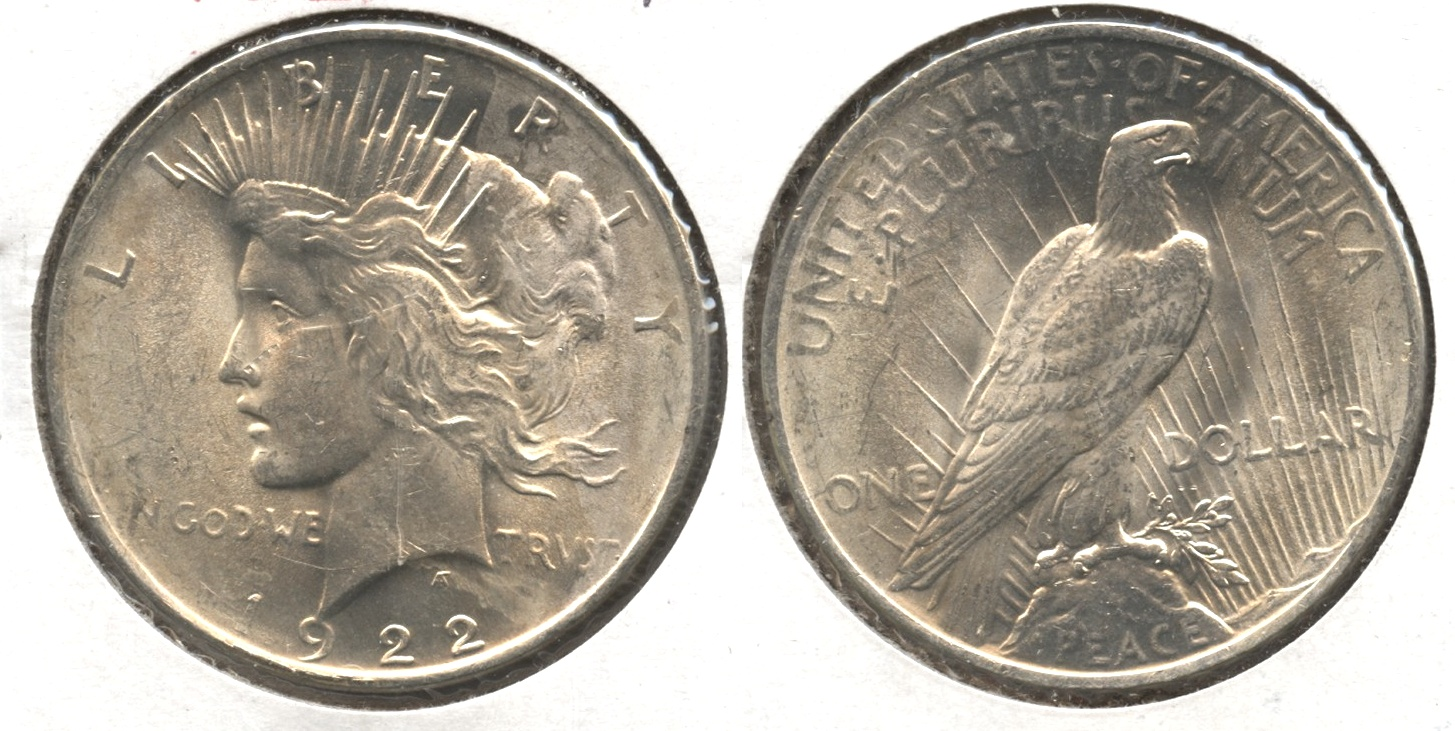 1922 Peace Silver Dollar MS-61 #a