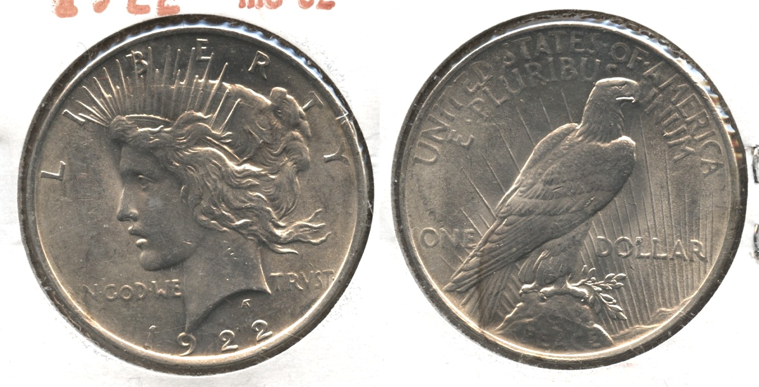 1922 Peace Silver Dollar MS-62 #j