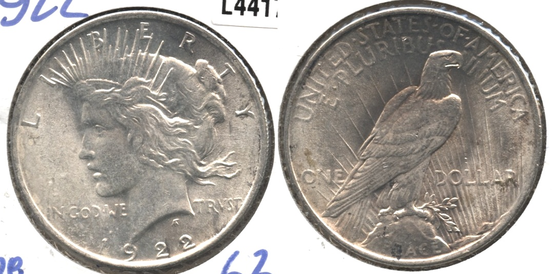 1922 Peace Silver Dollar MS-63 #e