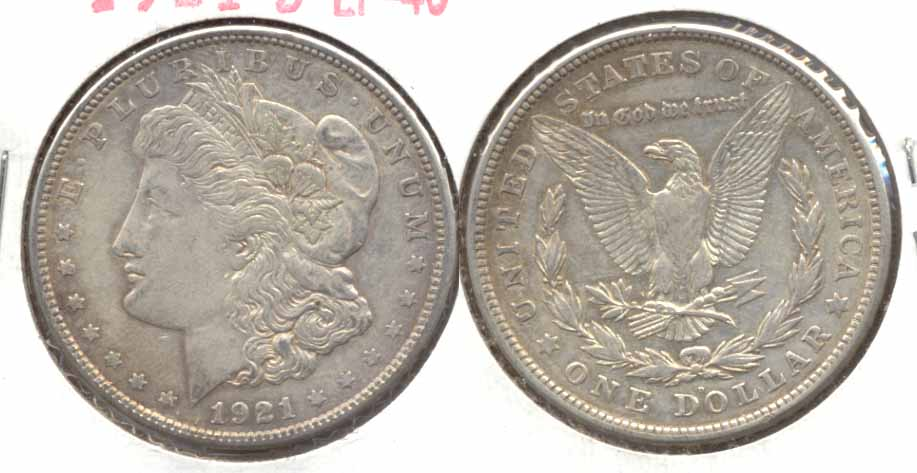 1921-D Morgan Silver Dollar EF-40 a