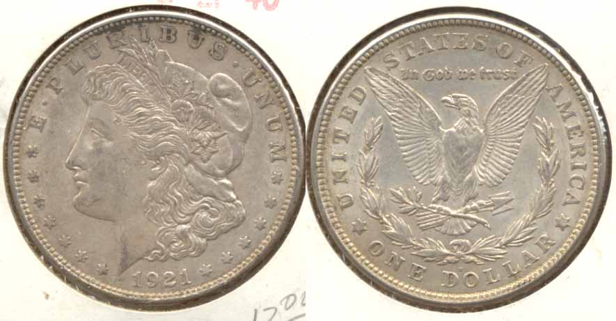 1921-D Morgan Silver Dollar EF-40 c