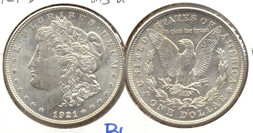 1921-D Morgan Silver Dollar MS-60 a
