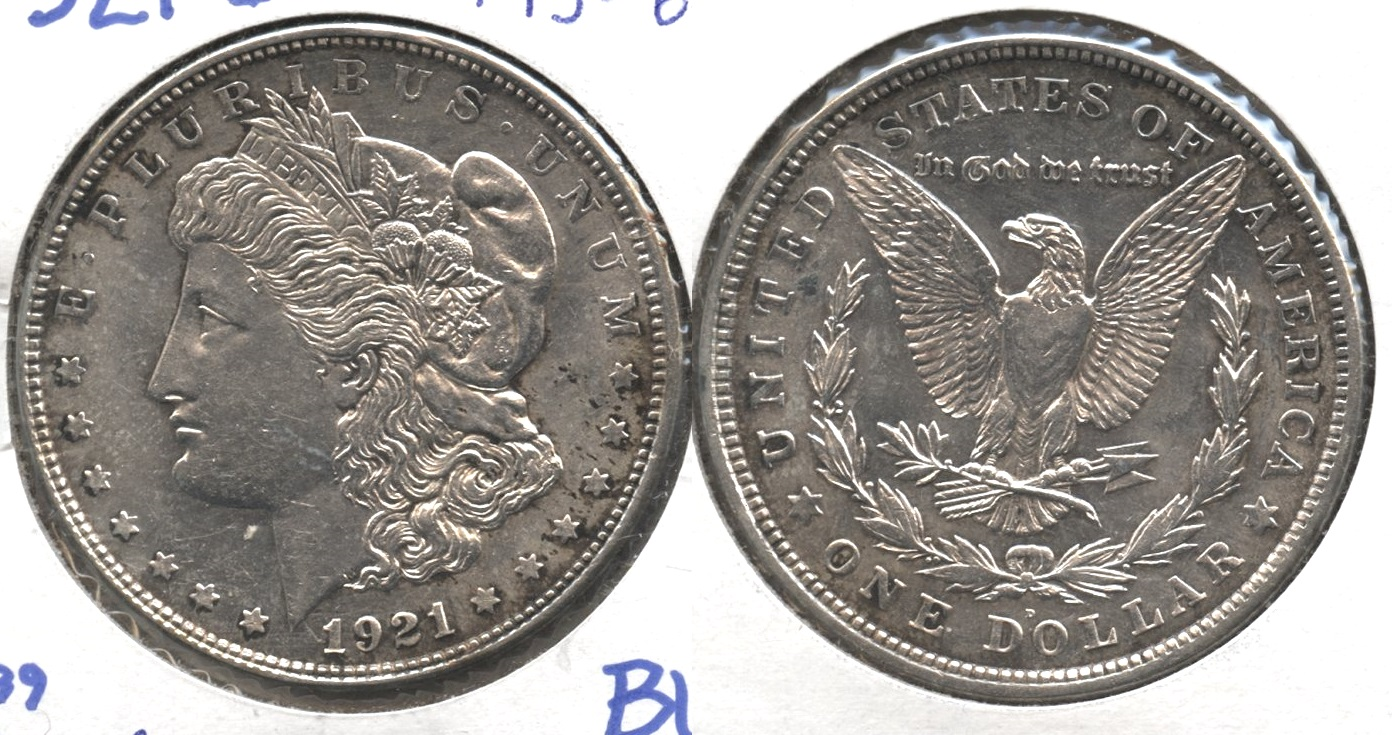 1921-D Morgan Silver Dollar MS-60 #n