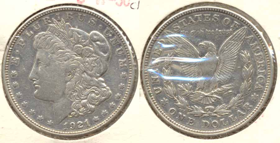 1921-D Morgan Silver Dollar VF-30 a Cleaned