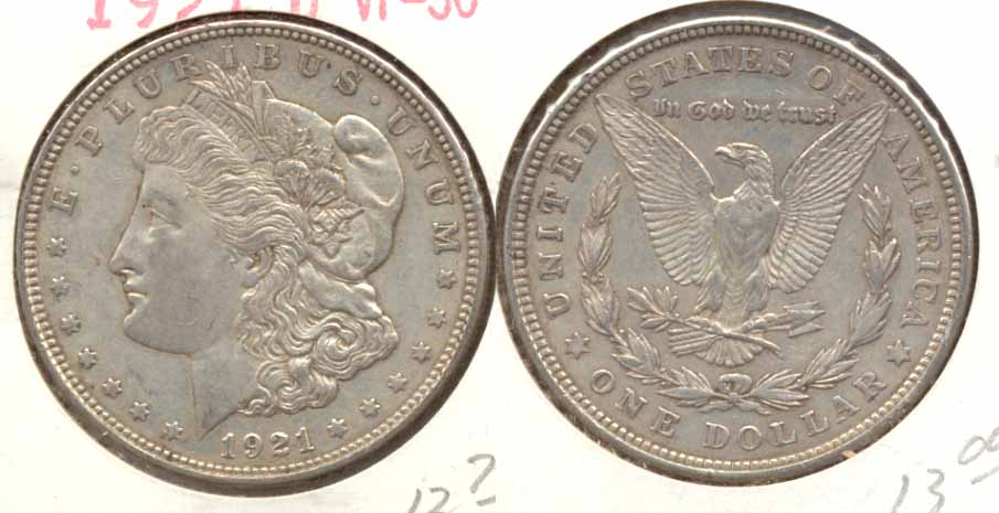 1921-D Morgan Silver Dollar VF-30 b