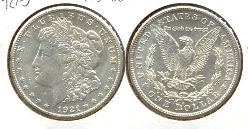 1921-S Morgan Silver Dollar MS-60