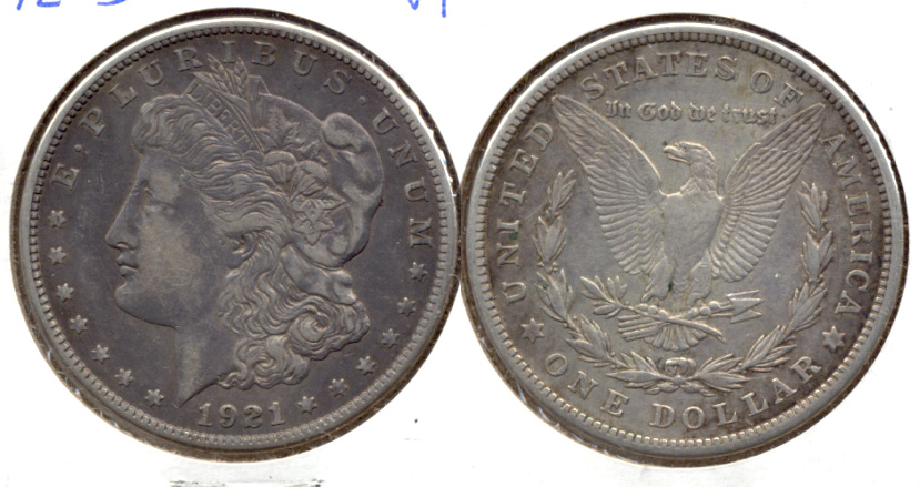 1921-S Morgan Silver Dollar VF-20