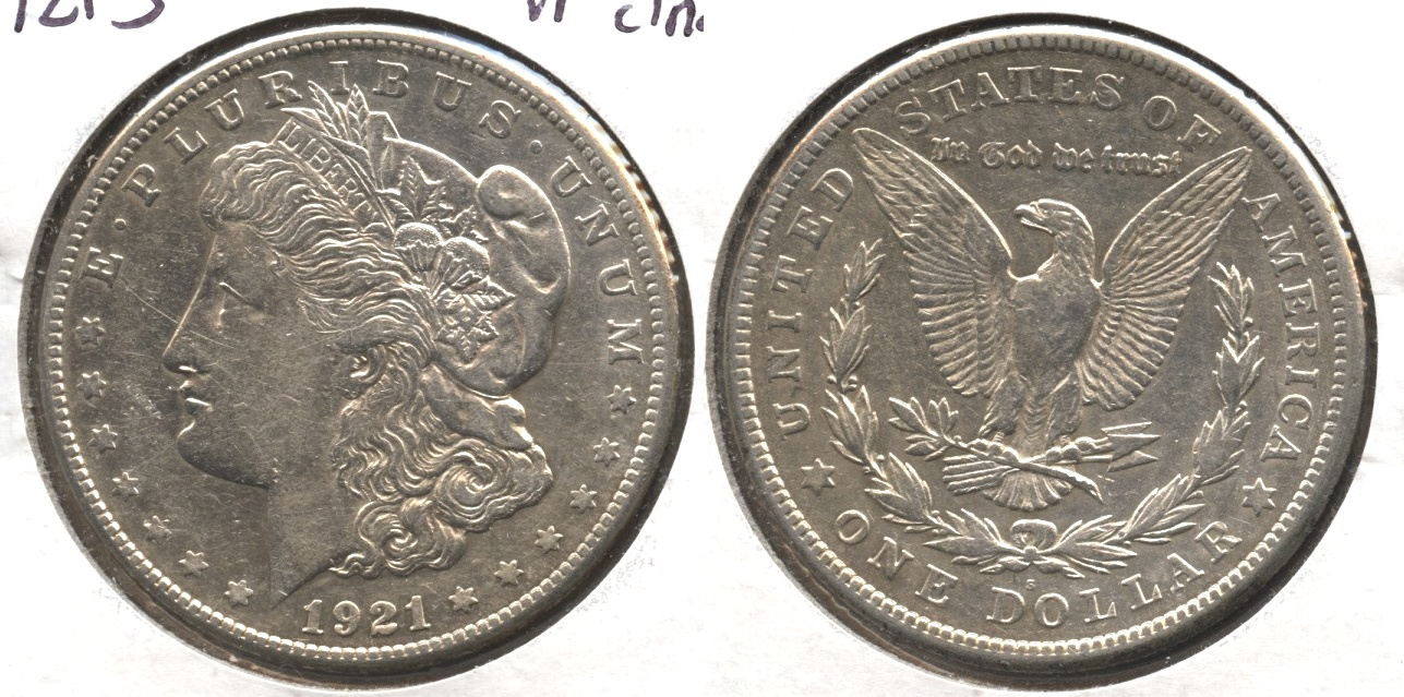 1921-S Morgan Silver Dollar VF-20 #d Cleaned
