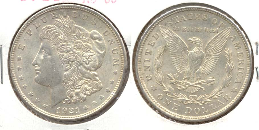 1921 Morgan Silver Dollar AU-50 f