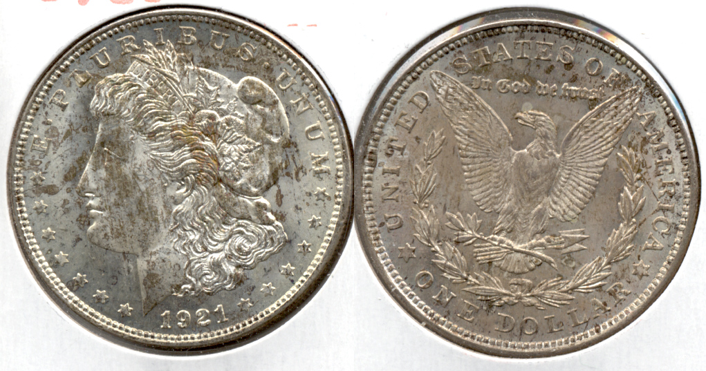 1921 Morgan Silver Dollar AU-50 l