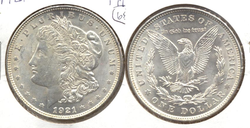 1921 Morgan Silver Dollar AU-55 a