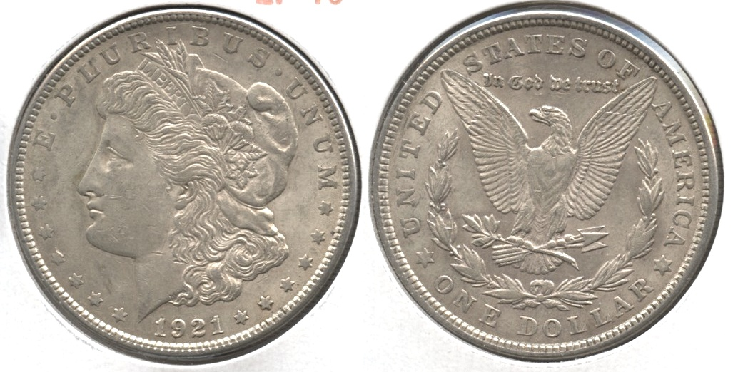 1921 Morgan Silver Dollar EF-40 #ad