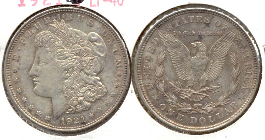 1921 Morgan Silver Dollar EF-40 d