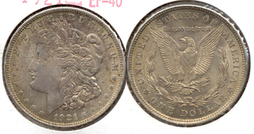 1921 Morgan Silver Dollar EF-40 k