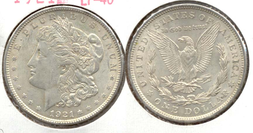 1921 Morgan Silver Dollar EF-40 m