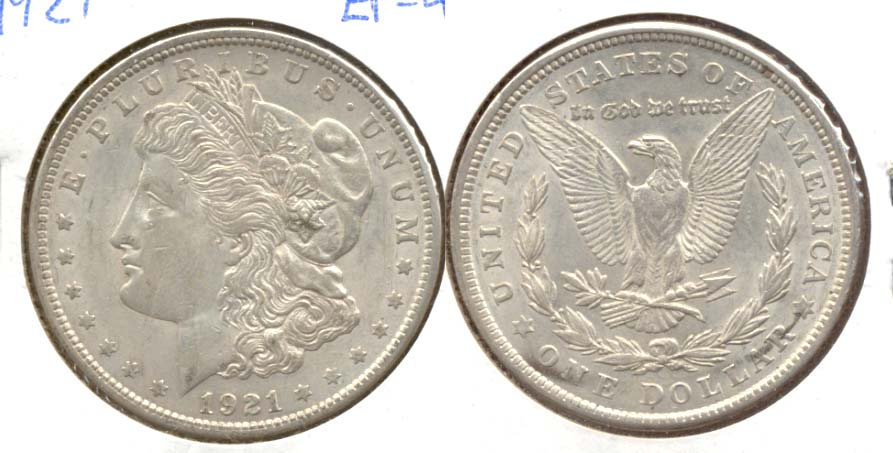 1921 Morgan Silver Dollar EF-45 m