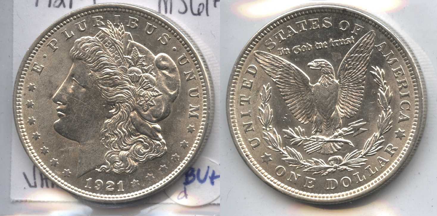 1921 Morgan Silver Dollar MS-60 #d VAM-3 16 Berries