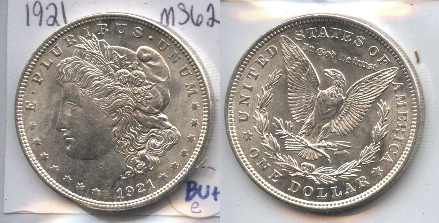 1921 Morgan Silver Dollar MS-60 #e