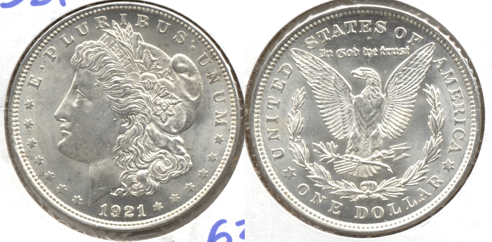 1921 Morgan Silver Dollar MS-63 h