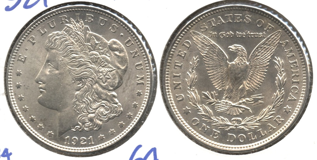 1921 Morgan Silver Dollar MS-64