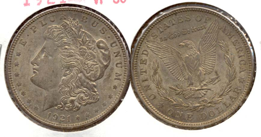 1921 Morgan Silver Dollar VF-30