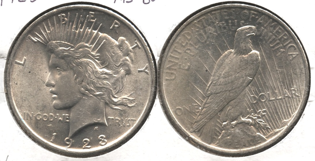 1923 Peace Silver Dollar MS-60 #v