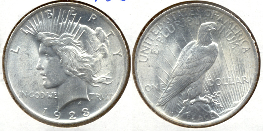 1923 Peace Silver Dollar MS-62