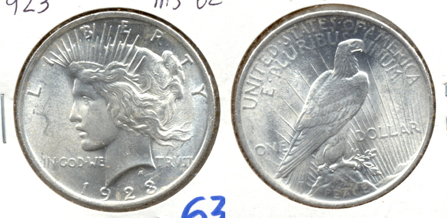 1923 Peace Silver Dollar MS-62 e