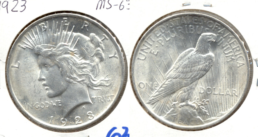 1923 Peace Silver Dollar MS-63 g