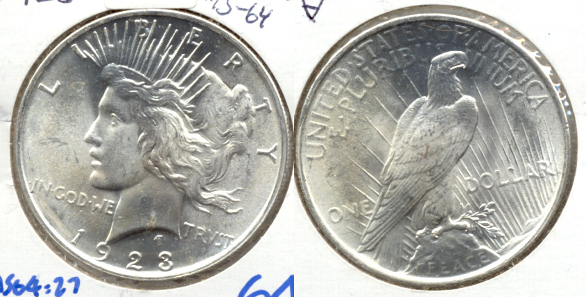 1923 Peace Silver Dollar MS-64