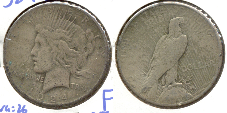1924-S Peace Silver Dollar Fine-12 Rough