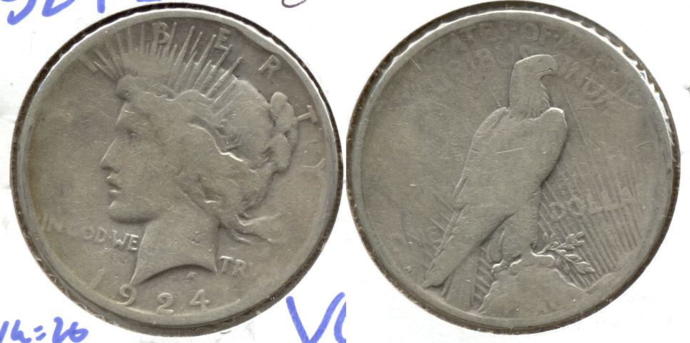 1924-S Peace Silver Dollar Good-4 b