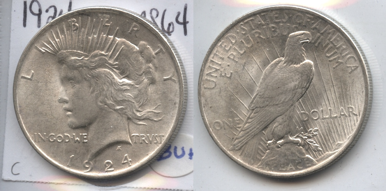 1924 Peace Silver Dollar MS-60 #c