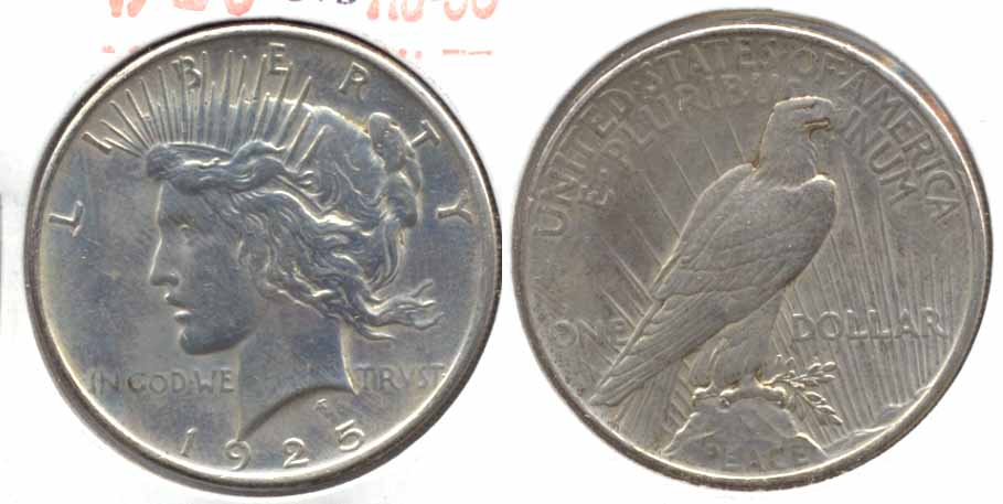 1925 Peace Silver Dollar AU-50 k Cleaned
