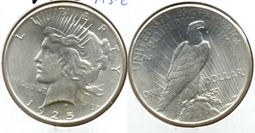 1925 Peace Silver Dollar MS-60 b