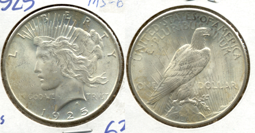 1925 Peace Silver Dollar MS-62 a