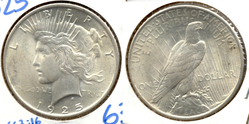 1925 Peace Silver Dollar MS-63 a