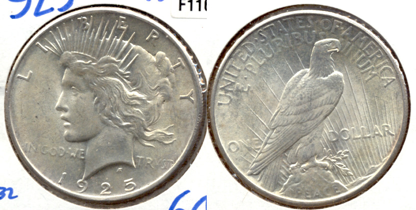 1925 Peace Silver Dollar MS-63 c