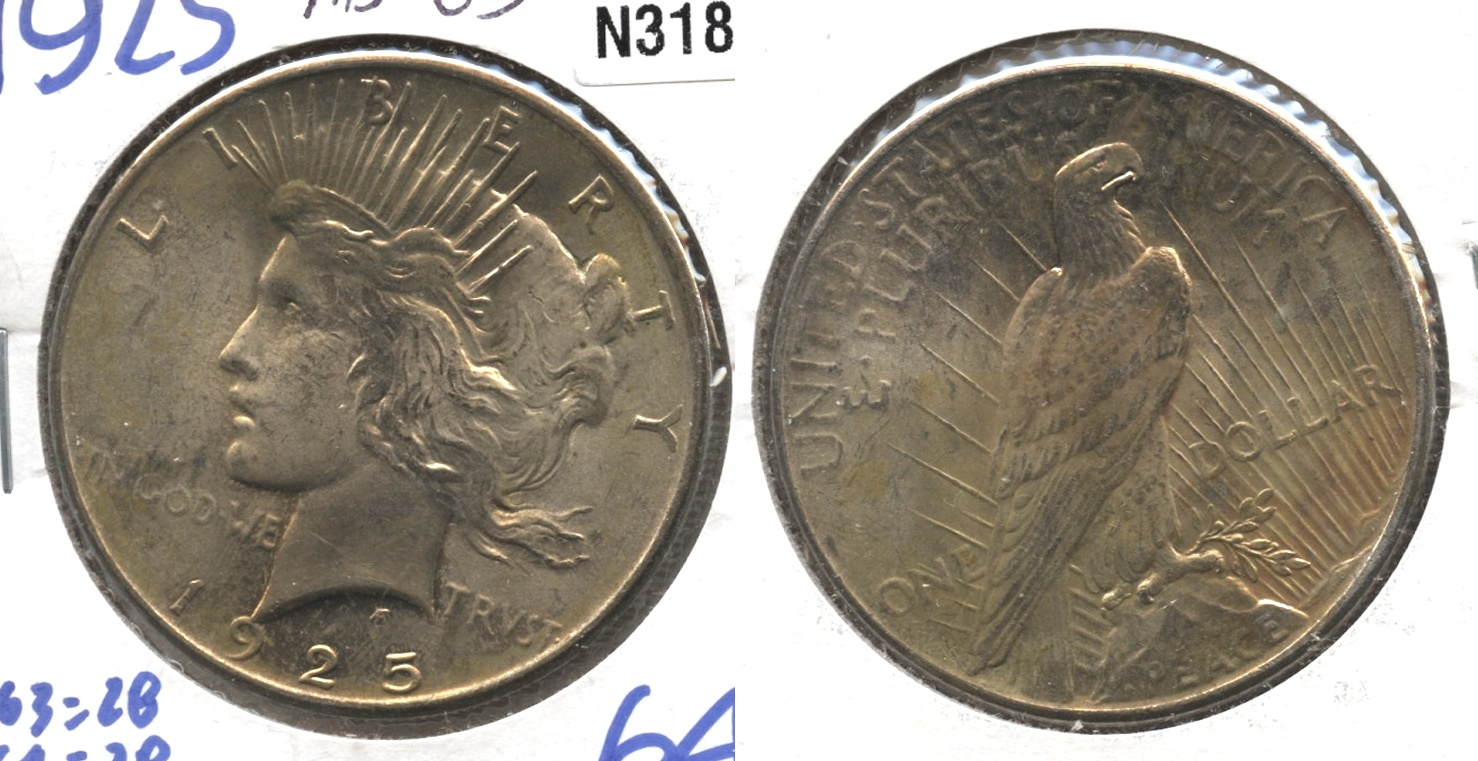 1925 Peace Silver Dollar MS-63 #l