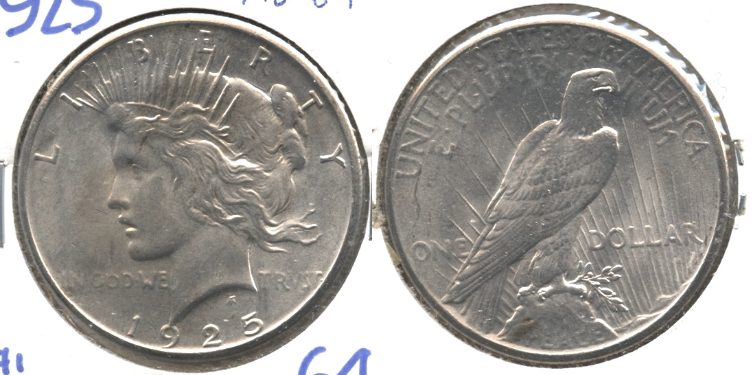 1925 Peace Silver Dollar MS-64