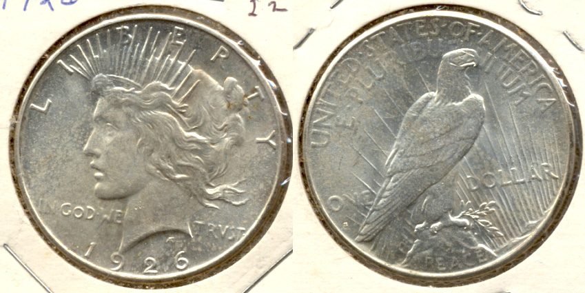 1926-S Peace Silver Dollar MS-60 b