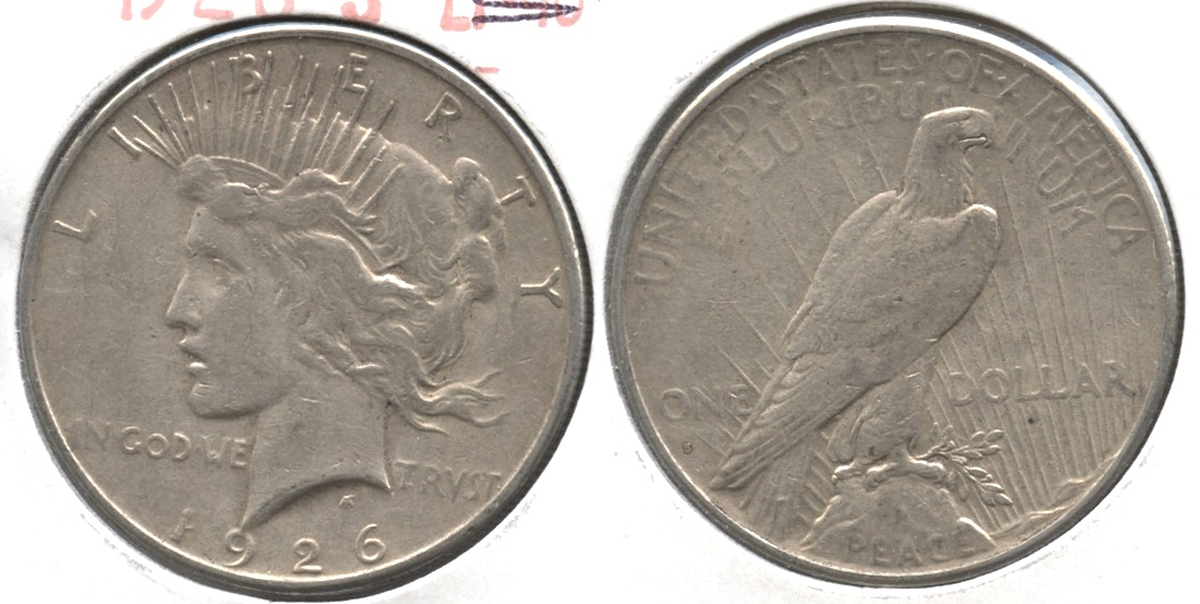 1926-S Peace Silver Dollar VF-20 #ab