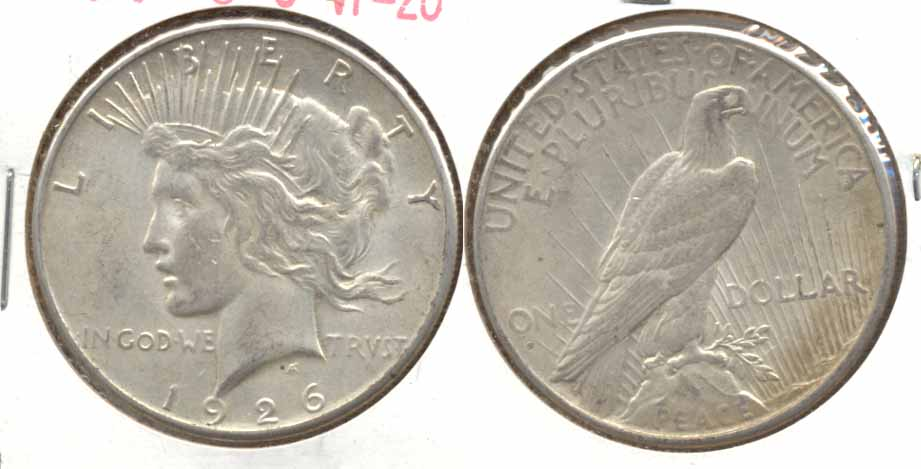 1926-S Peace Silver Dollar VF-20 b