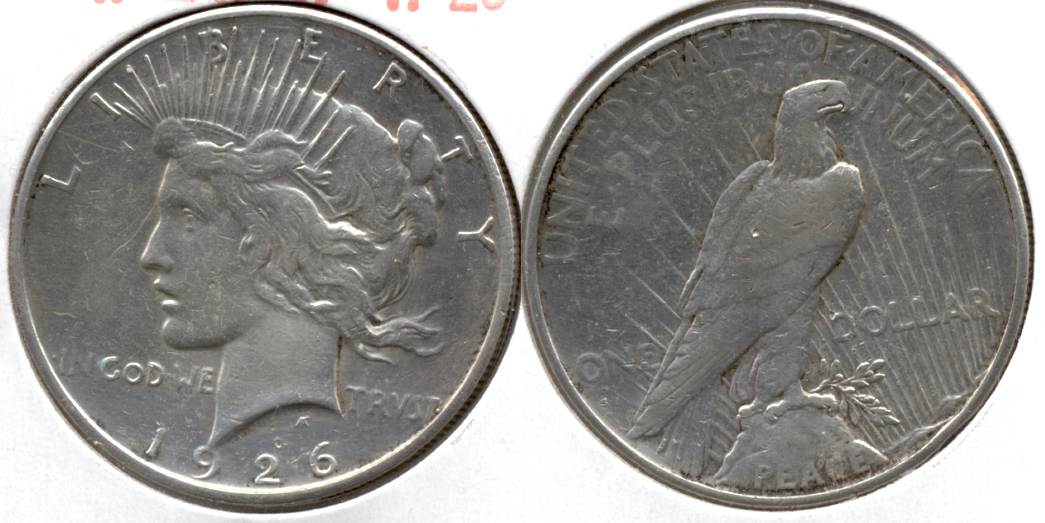 1926-S Peace Silver Dollar VF-20 k