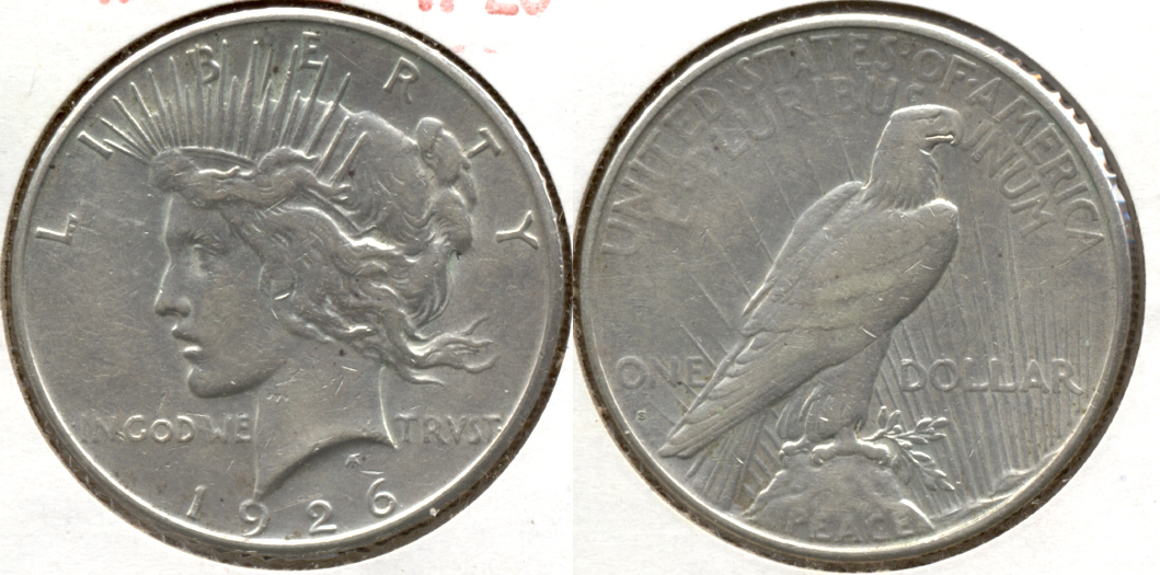 1926-S Peace Silver Dollar VF-20 n