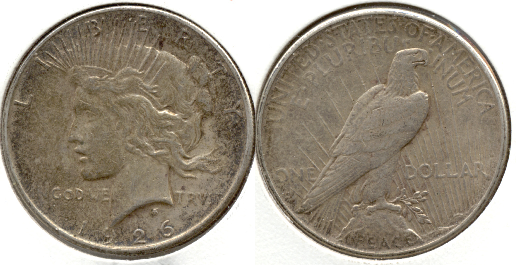 1926-S Peace Silver Dollar VF-20 s