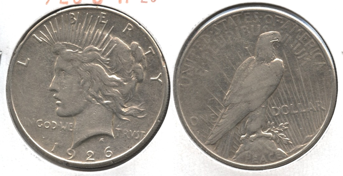 1926-S Peace Silver Dollar VF-20 #z