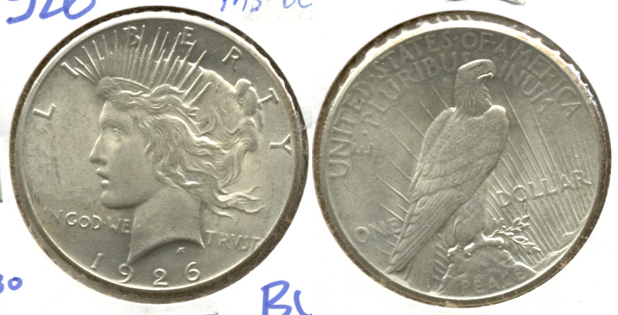 1926 Peace Silver Dollar MS-60 c